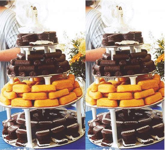 Alternativa para aquele casamento  que faltou ser entregue o bolo
