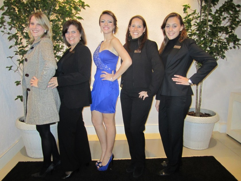 Graciele do Espaço Vip , Cristina Quadrini,  aniversariante Isabelle , Andrea e Mariana.