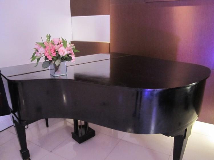 Piano usado no Hall para recepção de convidados